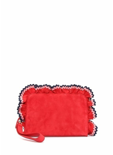 Loeffler Randall Clutch / El Çantası Kırmızı